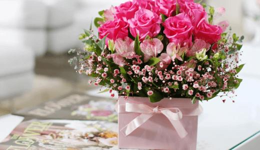 【韓国 花お届け代行】フラワーボックス・ピンク ~甘い私達の愛~