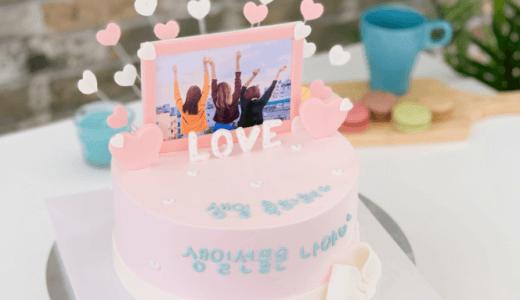 【韓国ケーキサポート代行】ハートクリーム1段