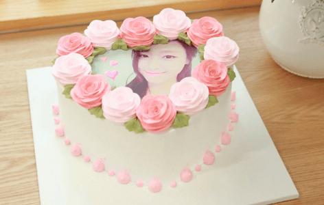 【韓国ケーキサポート代行】ロマンチックピーチ