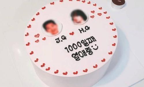 【韓国ケーキサポート代行】恋愛中ケーキ
