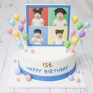 【韓国ケーキサポート代行】シンプルケーキ3